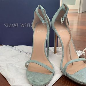 Stuart Weitzman Nudist Sandal - Baby Blue Size 7